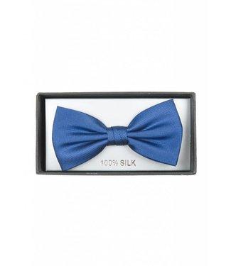 strik zijde, koningsblauw