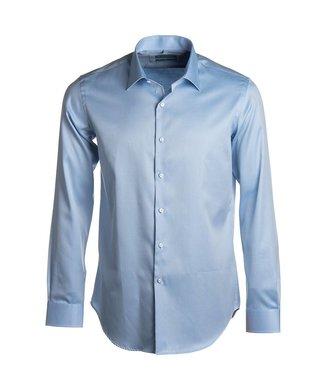 lichtblauw slim hemd 2-ply twill - easy care