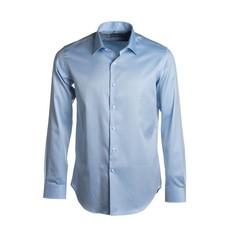 Lichtblauw regular fit hemd 2-ply twill - easy care