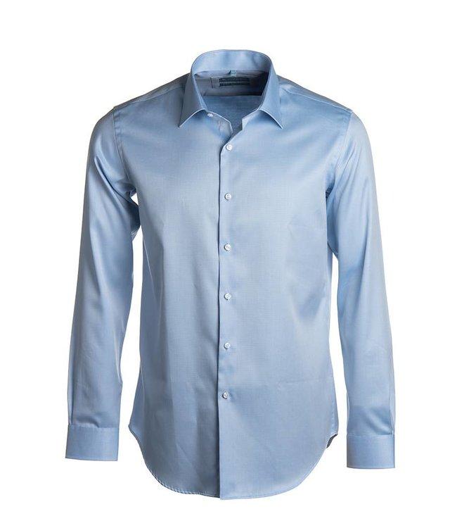 FORMEN lichtblauw hemd in 2-ply twill, regular fit