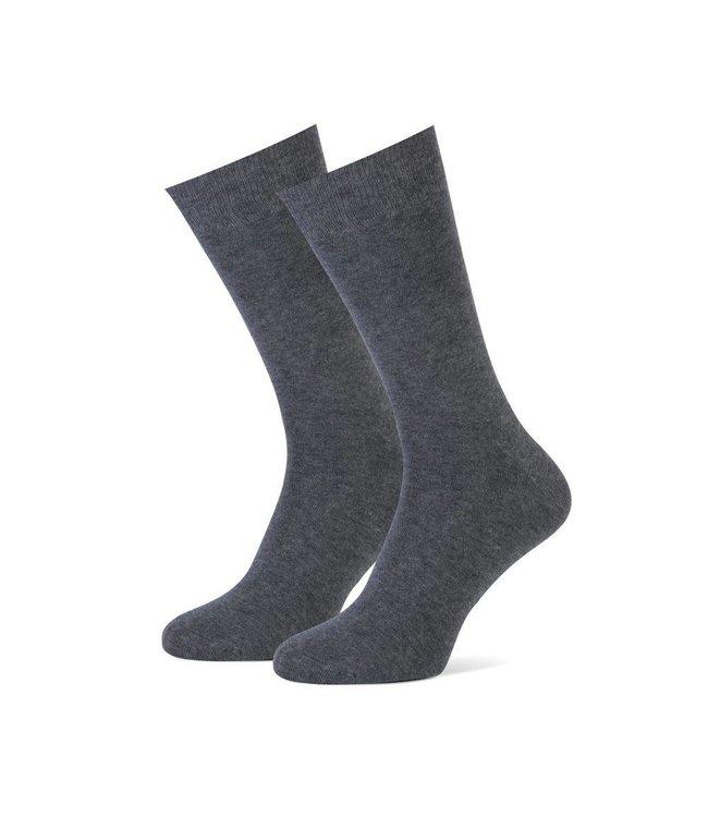 2-pack heren sokken antraciet
