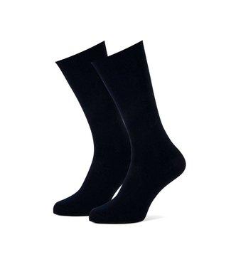 sokken effen donkerblauw duopack = 2 paar