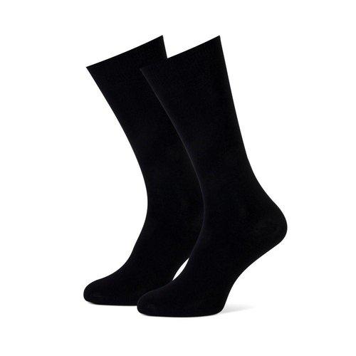 Duopack heren sokken effen zwart