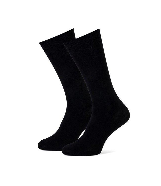 sokken effen zwart duopack = 2 paar