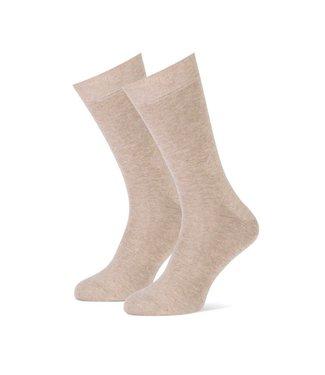 beige heren sokken duopack = 2 paar
