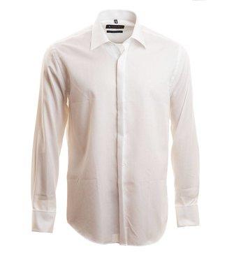 wit hemd met verborgen knopenrij