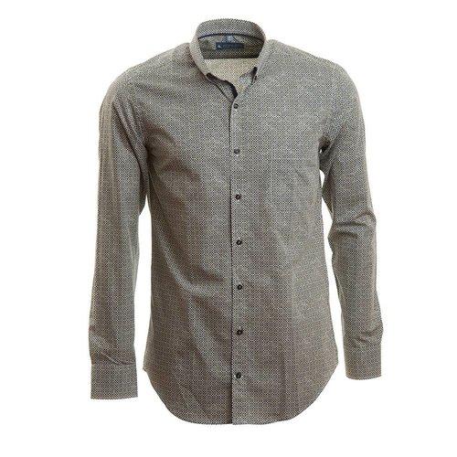slim fit hemd met retro motief