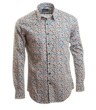zomers, fleurig slim fit hemd
