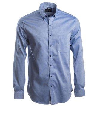sportief Oxford hemd in jeansblauw