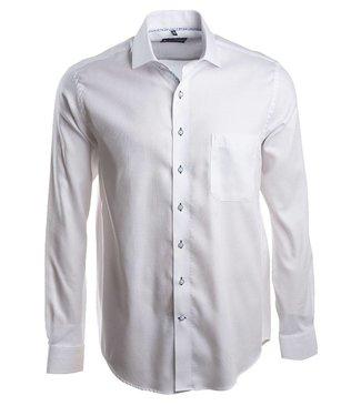 piekfijn wit hemd met Italiaanse kraag