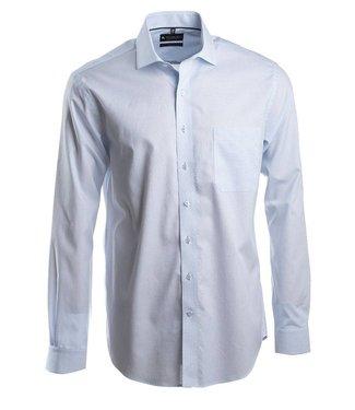 lichtblauw business shirt met Italiaanse kraag