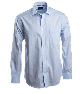ultrafijn gestreept hemd in stijlvol lichtblauw