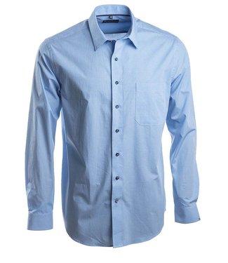knap blauw hemd met mooie structuur