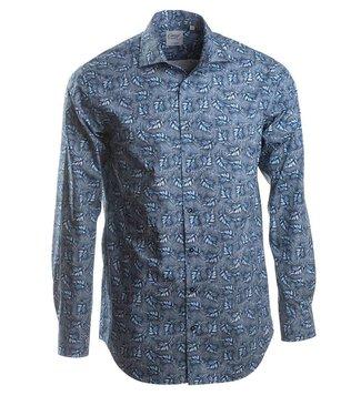 Zweeds designer shirt met opvallende print