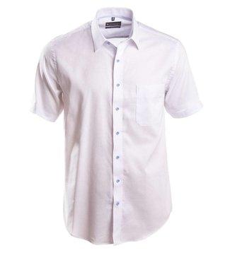 effen wit Oxford hemd met korte mouwen
