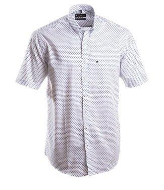 wit popeline hemd met speels motief
