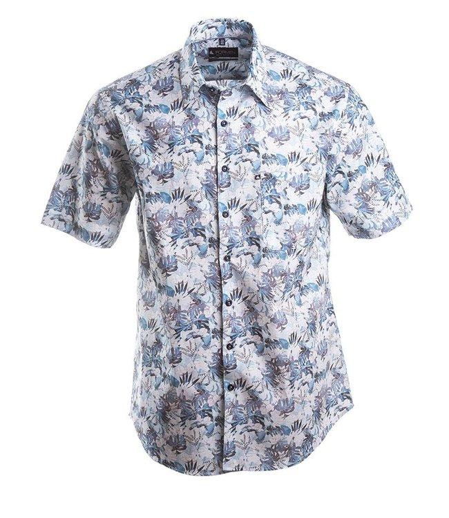 zomers hemd met opvallend floraal dessin