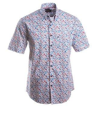 hemd met korte mouwen en fijne bloemenprint