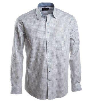 knap hemd met tijdloos blauw motief