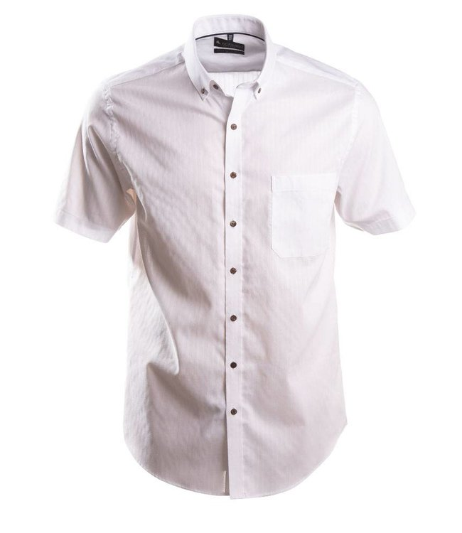 effen wit hemd met korte mouwen