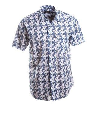 FORMEN zomerhemd met blauwe print