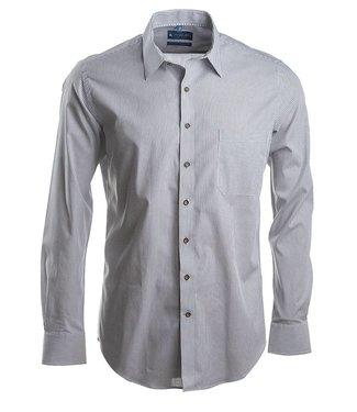 FORMEN grijs gestreept slim fit hemd