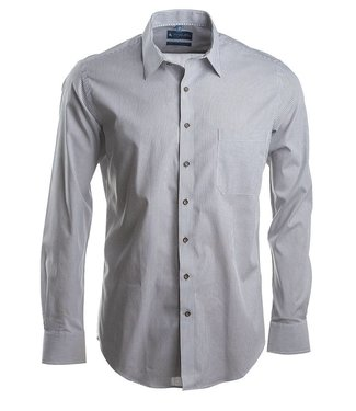 grijs gestreept slim fit hemd