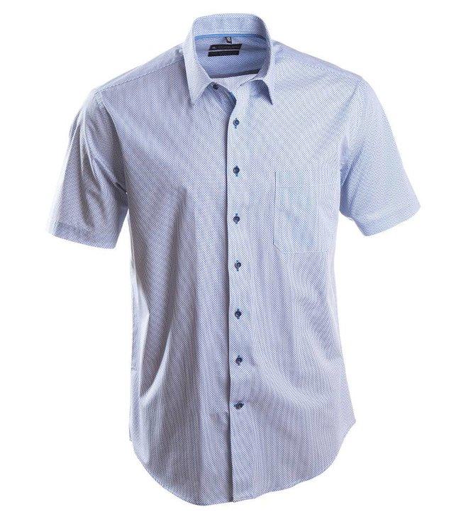 zomerhemd met koningsblauw dessin