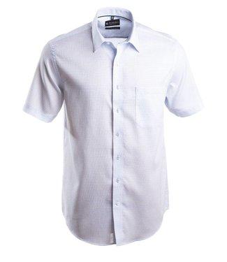 lichtblauw hemd met structuurpatroon