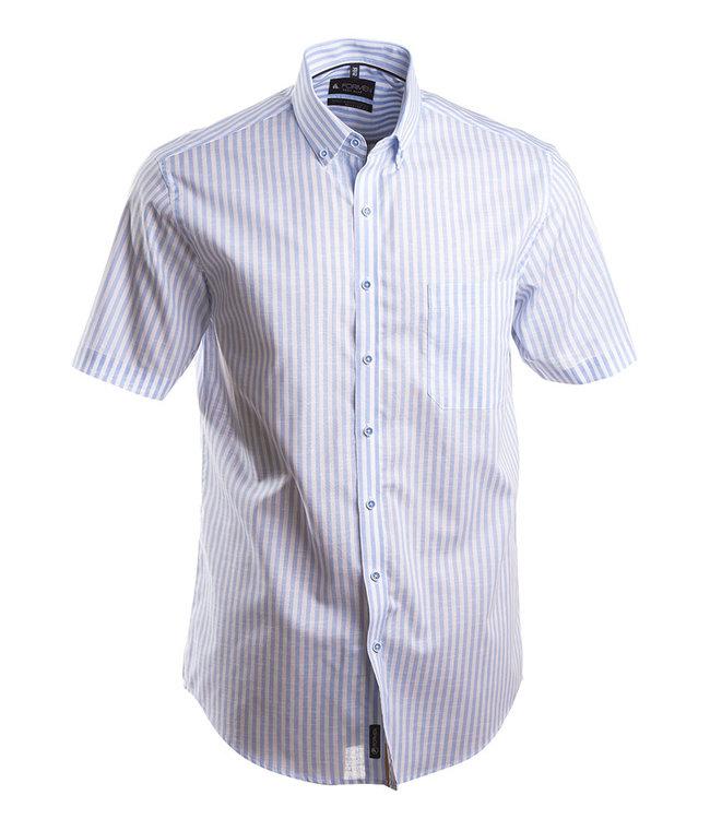gestreept hemd met korte mouwen