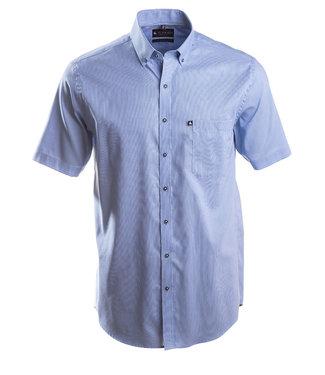 donkerblauw fijn gestreept hemd