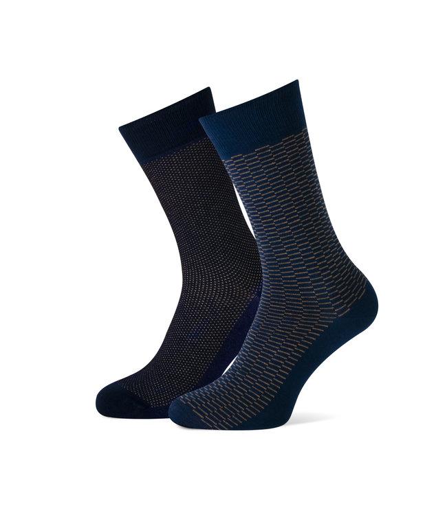 duopack sokken marine / camel