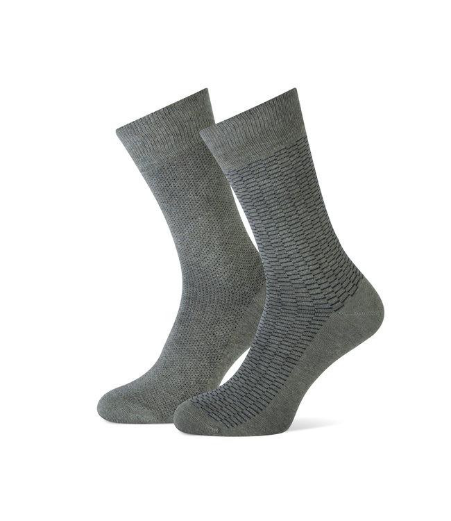 FORMEN duopack sokken kakigroen