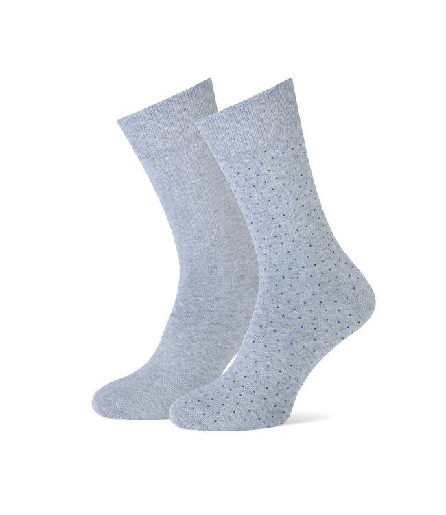 duopack sokken lichtgrijs