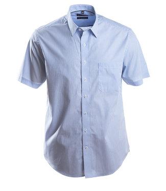 klassiek streepjeshemd in zomers blauw