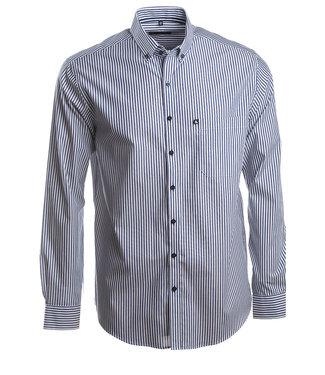 donkerblauw gestreept hemd