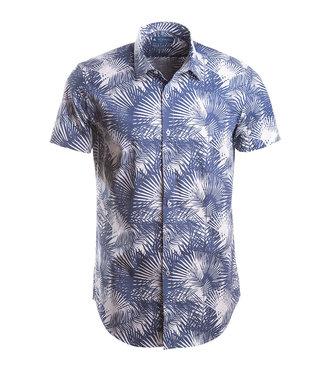 slim fit hemd met hawai print