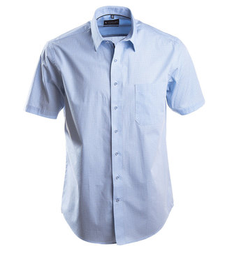 casual lichtblauw hemd met kleine print