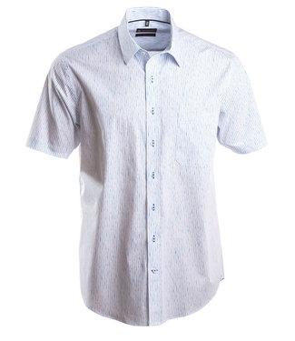 hemd met aparte strepen in knap turquois