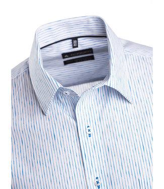 hemd met turquoise dessin