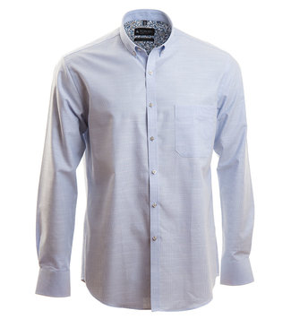 lichtblauw business shirt met microstructuur