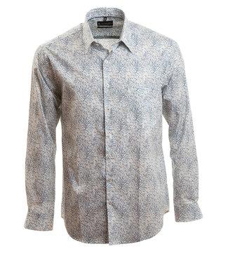 hemd met mooie print in zacht blauw