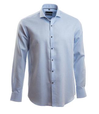 lichtblauw chic hemd met microstructuur