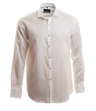 wit zakelijk hemd met microstructuur