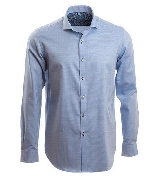 blauw dressed shirt met microstructuur