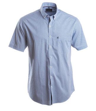 knap zomerhemd met blauwe print