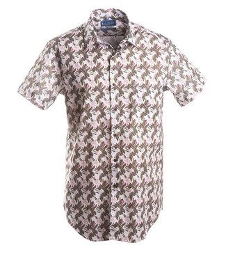 karaktervol hemd met zomerse print, slim fit