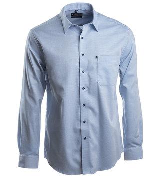 knap hemd met mooie structuur in blauwtinten