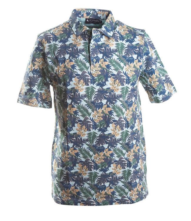 FORMEN polo met hawai print