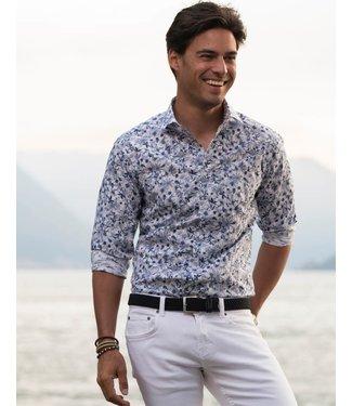 origineel blauw hemd met knap motief